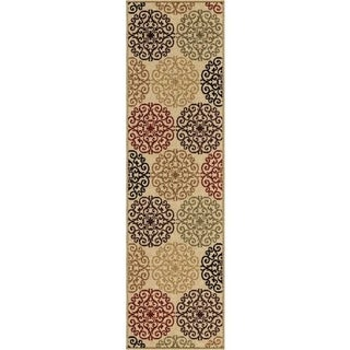 Indoor/ Outdoor Napa Harbridge Beige Rug (2'3 x 8')