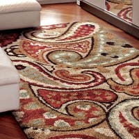 Carolina Weavers Grand Comfort Collection Offbeat Pail Multi Shag Area Rug (5'3 x 7'6) - 5'3 x 7'6
