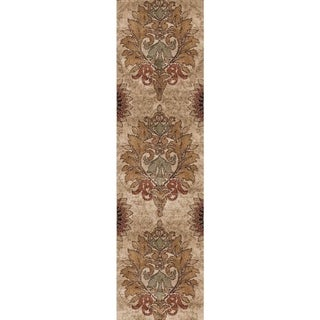 Carolina Weavers Grand Comfort Collection Curtis Beige Runner (2'3 x 8')