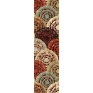Carolina Weavers Grand Comfort Collection Pinochle Multi Runner (2'3 x 8')
