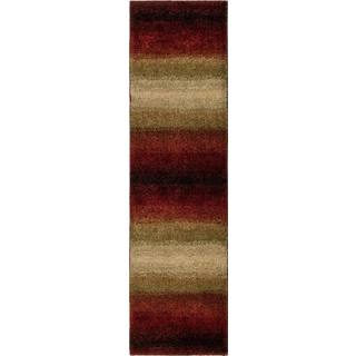Carolina Weavers Grand Comfort Collection Tie-in Red Shag Runner - 2'3 x 8'