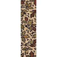 Carolina Weavers Grand Comfort Collection Color Domain Beige Shag Runner - 2'3 x 8'