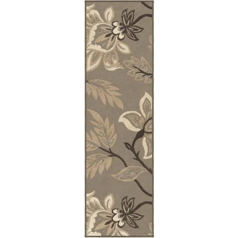 "Carolina Weavers Finesse Collection Floweret Grey Runner (2'3 x 8') - 2'3"" x 8'"