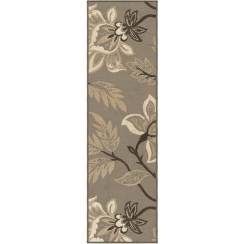 "Carolina Weavers Finesse Collection Floweret Grey Runner (2'3 x 8') - 2'3"" x 8'"