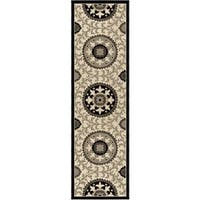 Carolina Weavers Finesse Collection Geo Crest Grey Runner (2'3 x 8') - 2'3 x 8'