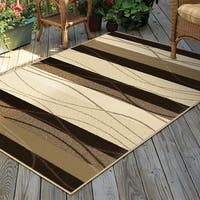 Carolina Weavers Bermuda Collection Mud Trace Brown Area Rug - 7'8 x 10'10
