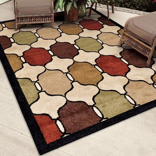 Carolina Weavers Bermuda Collection Multi Area Rug (7'8 x 10'10) - 7'8 x 10'10