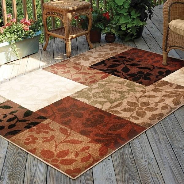 Carolina Weavers Bermuda Collection Floral Jungle Multi Area Rug (5'2 x 7'6) - 5'2 x 7'6