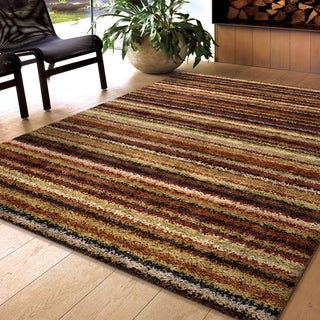Carolina Weavers Shag Scene Collection Toran Multi Shag Area Rug (5'3 x 7'6) - 5'3 x 7'6
