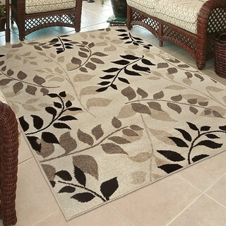 Carolina Weavers Bermuda Collection Vines Park Beige Area Rug (5'2 x 7'6) - 5'2 x 7'6