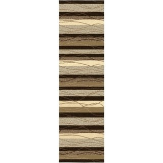 Indoor/ Outdoor Napa Traverse Beige Rug (2'3 x 8')