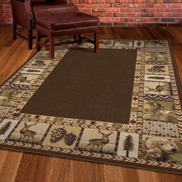 Carolina weavers nativity collection georgic brown area for 10x10 area rug