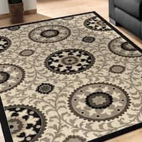 Carolina Weavers Finesse Collection Geo Crest Area Rug - 5'3 x 7'6