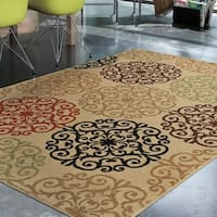 Carolina Weavers Bermuda Collection Pedro Beige Area Rug (7'8 x 10'10) - 7'8 x 10'10