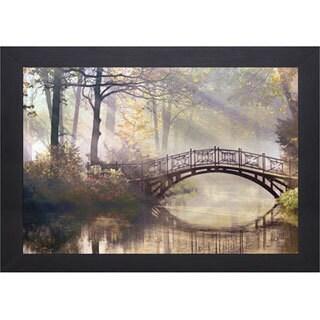 James Gordon 'Morning Light' Black Framed Landscape Art