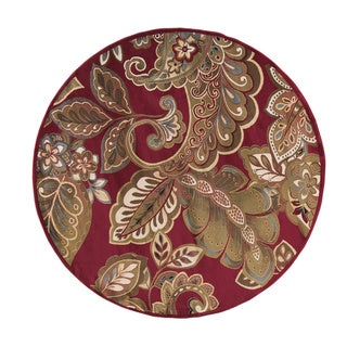 Meticulously Woven Valdosta Paisley (Red - 8 Round)