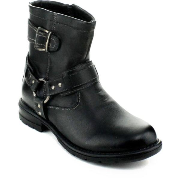 Mens Buckle Strap Shoes