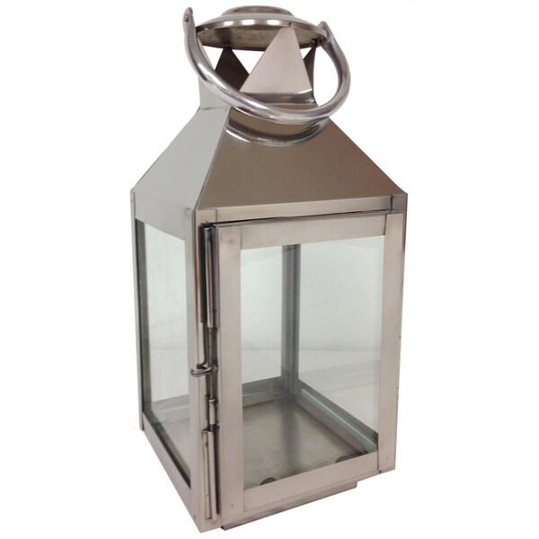 13-inch Tall Aluminum Candle Lantern