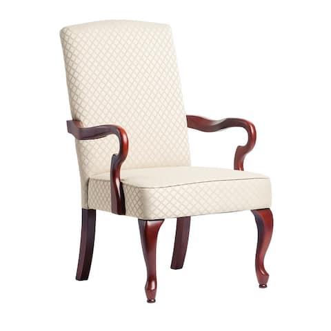 Copper Grove Casalis Cherry Finish Gooseneck Accent Chair - See Product Description - See Product Description