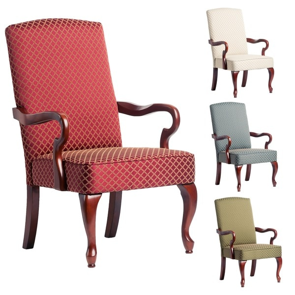 Copper Grove Casalis Cherry Finish Gooseneck Accent Chair - See Product Description - See Product Description. Opens flyout.