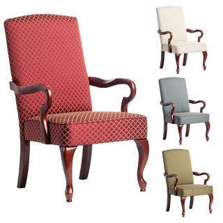 Dayton Cherry Finish Gooseneck Accent Chair by Greyson Living