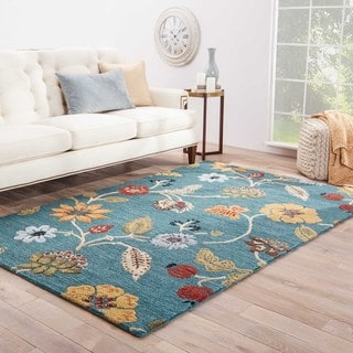 Bloomsbury Handmade Floral Blue/ Multicolor Area Rug (2' X 3')