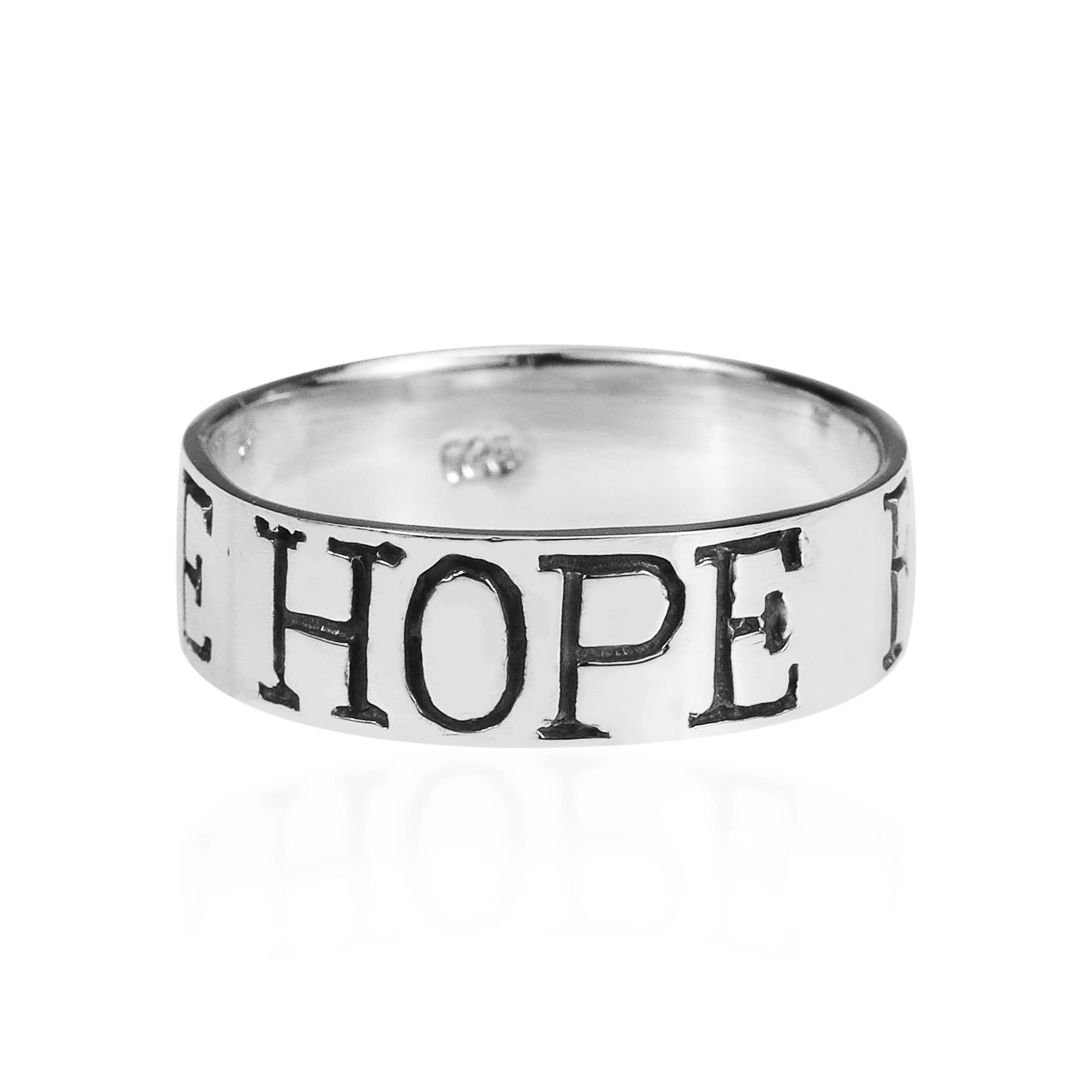 Aeravida Handmade 'Love Hope Faith' .925 Sterling Silver ...