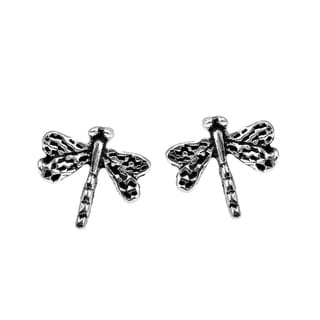 Cute Petite Dragonfly .925 Silver Stud Earrings (Thailand)