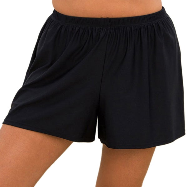 be3e989e6f Shop Swimsuits For All Women's Plus Size Black Beach Shorts - Free Shipping  On Orders Over $45 - Overstock - 9355246