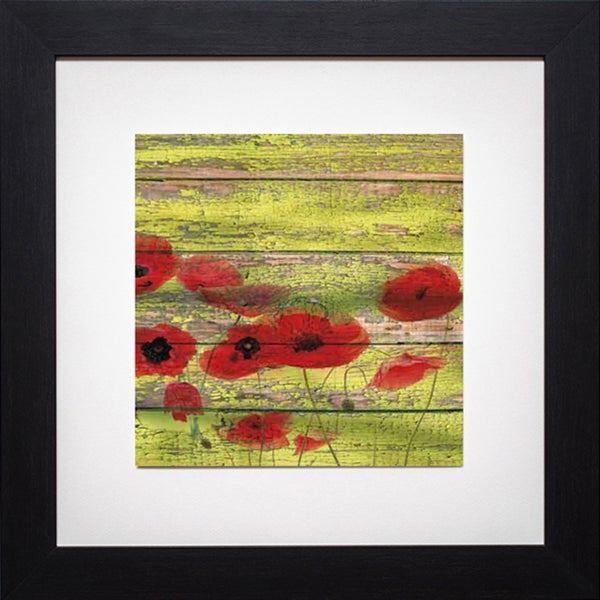Irena Oriov 'Red Poppies 1' Framed Artwork