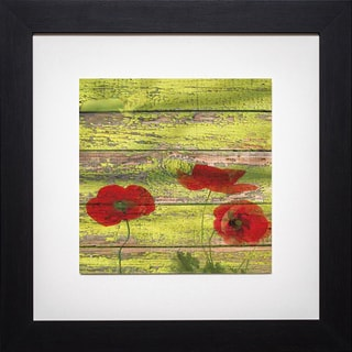 Irena Oriov 'Red Poppies 2' Framed Artwork