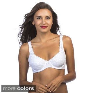 247 Frenzy Women's Full Coverage Soft Cup Lace Bra (Pack of 6)