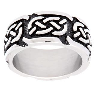 Ion-plated Stainless Steel Celtic Knot Band https://ak1.ostkcdn.com/images/products/9355362/P16547880.jpg?impolicy=medium