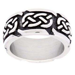 Ion-plated Stainless Steel Celtic Knot Band