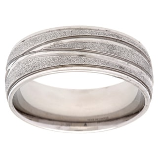 Stainless Steel Diamond-cut Band