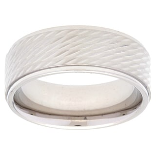 Stainless Steel Rope Textured Band