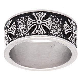 Stainless Steel Tribal Cross Ring