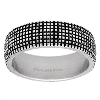 Stainless Steel Criss Cross Band