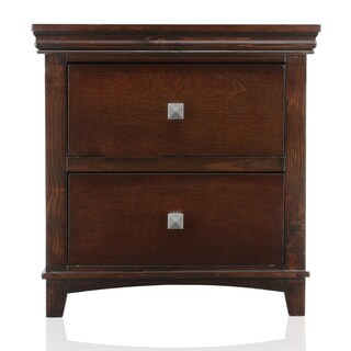 Furniture of America Tranzio Natural Transitional 2-Drawer Nightstand