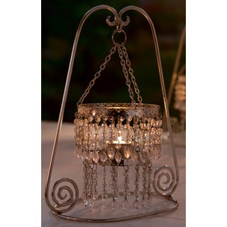 Clear Beaded Tealight Candle Stand