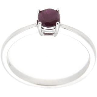 Pearlz Ocean Sterling Silver Gemstone Solitaire Ring