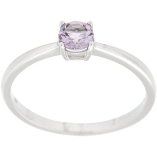 Pearlz Ocean Sterling Silver Gemstone Solitaire Ring Jewelry for Womens (More options available)