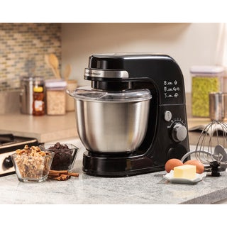Hamilton Beach Planetary Black Stainless Steel 4-quart Stand Mixer