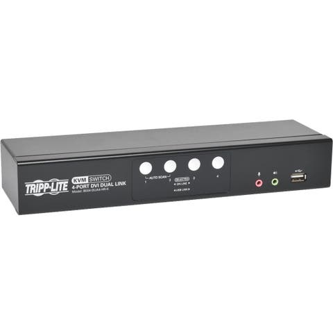Tripp Lite 4-Port DVI/USB KVM Switch Dual Link w/ Audio & Cables