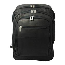 David King Leather 350 Oversized Laptop Backpack Black
