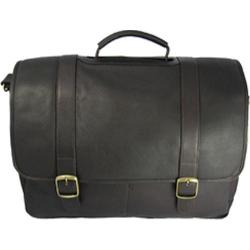 David King Leather 142 Porthole Laptop Briefcase Cafe