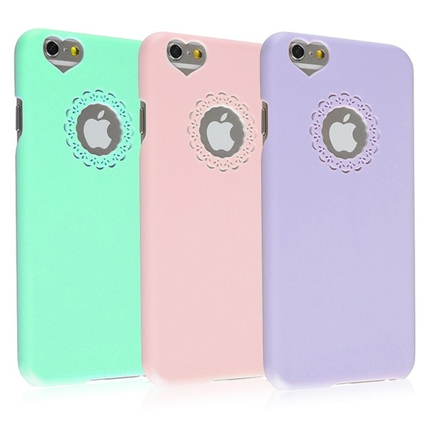 ... Cute Girlish Hard Plastic Phone Case Cover for Apple iPhone 6 4.7-inch