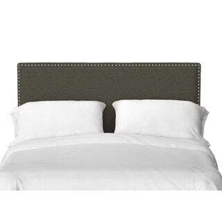 Handy Living Vara Straight Nail Head Edge King Upholstered Headboard