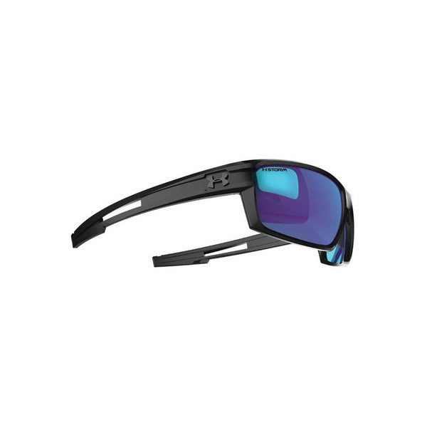 7de01e74fe5d Shop Under Armour Captain Storm Satin Black Sunglasses - Free Shipping  Today - Overstock - 9357397