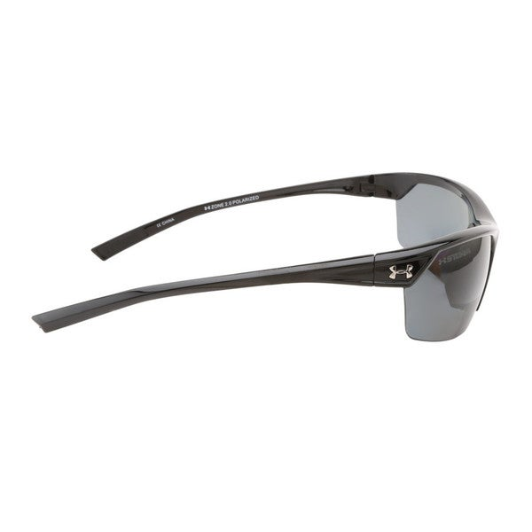 c3c0a9055f Shop Under Armour Zone 2.0 Storm Shiny Black Sunglasses - Free Shipping  Today - Overstock - 9357401